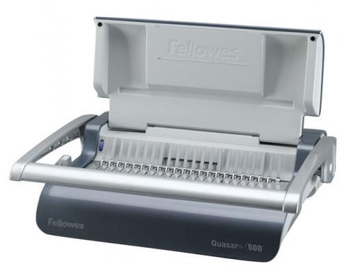 Переплетчик Fellowes QUASAR+ 500 A4 перфорирует 22 листов сшивает 500 листов пластиковые пружины 6-51мм FS-5627701 брошюровщик fellowes quasar