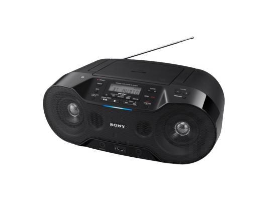 Магнитола Sony ZS-RS70BT черный cd магнитола sony zs pe60