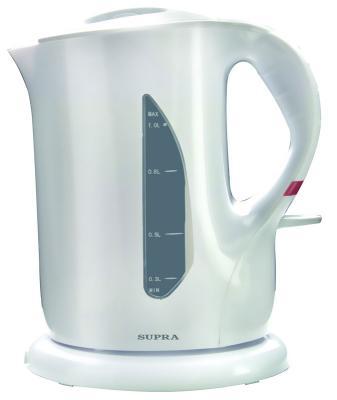 Чайник Supra KES-1001 1000 Вт белый 1 л пластик supra kes 1001 электрочайник