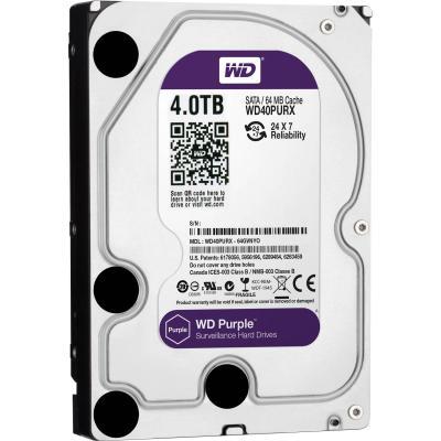 Жесткий диск WD Original SATA-III 4Tb WD40PURX Purple 64Mb 3.5 жесткий диск пк western digital wd40ezrz 4tb wd40ezrz
