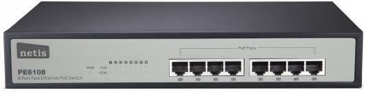 Коммутатор Netis PE6108 8-портовый PoE Swittch (4Port Poe/802.3af)