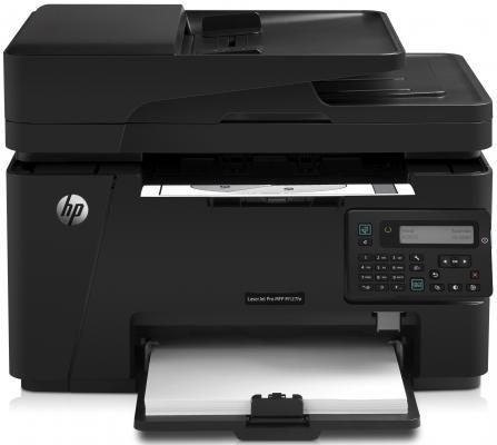 МФУ HP LaserJet Pro M127fn <CZ181A> принтер/сканер/копир/факс, A4, ADF, 20 стр/мин, 64Мб, USB, LAN (замена CE841A M1212nf)