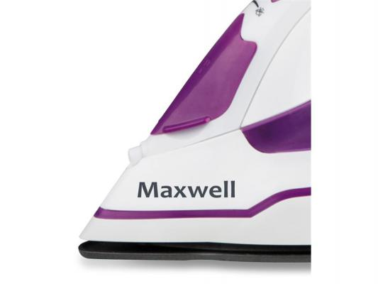 Утюг Maxwell MW-3035-VT 2400Вт белый-фиолетовый утюг philips gc4519 30 2400вт фиолетовый белый