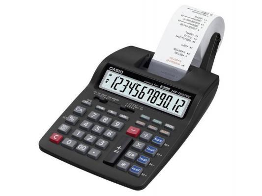 Калькулятор Сasio HR-150TEC-W1-E-EH 12 разрядов настольный двуцветная печать черный