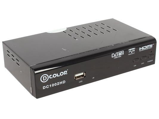 Тюнер цифровой DVB-T2 D-Color DC1002HD HDMI USB черный