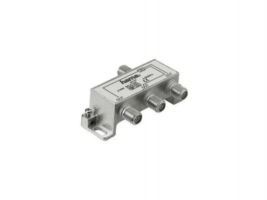 Антенный разветвитель HAMA H-44124 (КРАБ) 1->3 F-штекер (f) 5-860 МГц 75 Ом металл