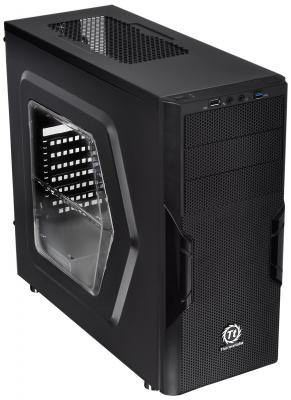 Корпус Thermaltake Versa H22 Black w/o PSU,Window,CA-1B3-00-M1WN-00 корпус zalman x7 black w o psu