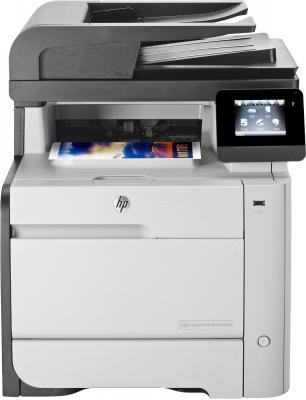 МФУ HP Color LaserJet Pro M476dn <CF386A> принтер/сканер/копир/факс, A4, ADF, дуплекс, 20/20 стр/мин, 256Мб, USB, LAN (замена CE863A M475dn)