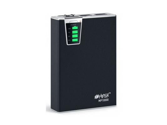 Портативный аккумулятор Hiper Mobile Power 10000 mAh black Емкость 10000 мА-ч, 1x USB 5В 1А, 1x USB 5В 2.1А, карт ридер SD, LED фонарик. solove s1 10000 mah power bank ultra elegant and slim 2a output fast charging universal compatible portable charger