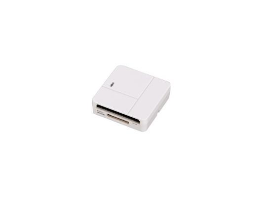 Картридер внешний Hama H-94125 для всех стандартов Basic USB 2.0 поддерживает SDXC белый картридер внешний hama h 91092 usb2 0 прозрачный 00091092