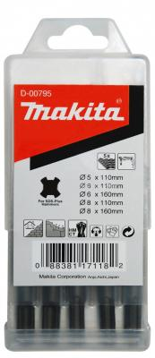 Набор буров Makita SDS-PLUS D-00795 5шт шлифлента makita 100х610мм к100 5шт p 36918