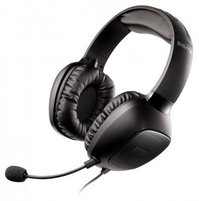 Гарнитура Creative Sound Blaster Tactic SBX Sigma USB/3.5мм черный 70GH014000002 клавиатура asus strix tactic pro cherry mx black black usb 90yh0081 b2ra00