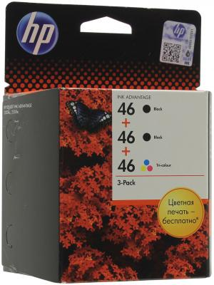 Картридж HP 46 F6T40AE для Deskjet Ink Advantage 2020hc Printer/2520hc AiO Combo Pack 2xчерный/цветной for hp 122 black ink cartridge for hp 122 xl deskjet 1000 1050 2000 2050 3000 3050a 3052a printer