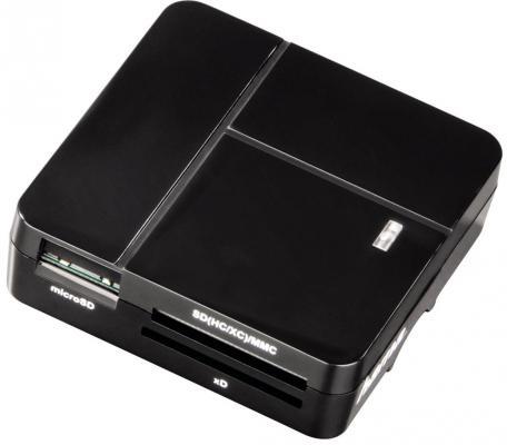 Картридер внешний Hama H-94124 для всех стандартов Basic USB 2.0 поддерживает SDXC черный