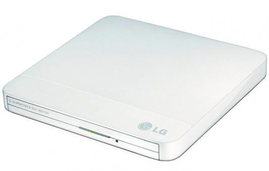 Внешний привод DVD±RW+CD/RW LG GP50NW41 Slim белый Retail внешний оптический привод lg bp50nb40 bp50nb40
