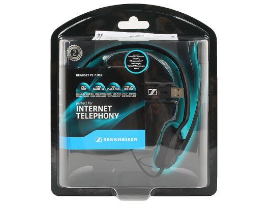 Гарнитура Sennheiser PC 7 USB черный