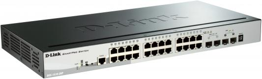 Коммутатор D-LINK DGS-1510-28P/A1A 24-порта 10/100/1000Mbps PoE+ 2x Gigabit SFP 2x 10G SPF+ коммутатор d link dgs 1510 28p a1a dgs 1510 28p a1a