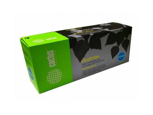 Картридж Cactus CS-CE742A для HP Color LaserJet CP5220 Professional CP5221 желтый 7300стр