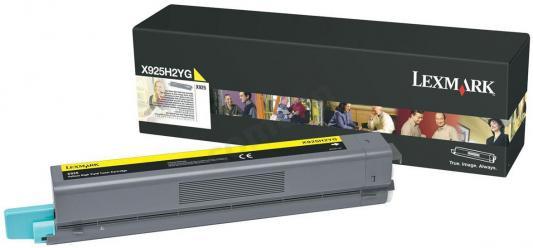 Картридж Lexmark X925H2YG для X925 желтый