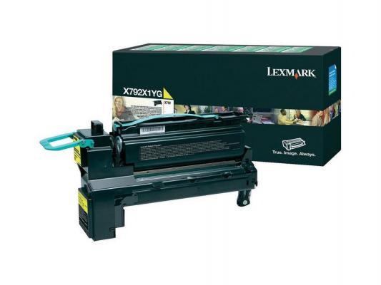 Картридж Lexmark X792X1YG для X792 желтый картридж lexmark высокой емкости