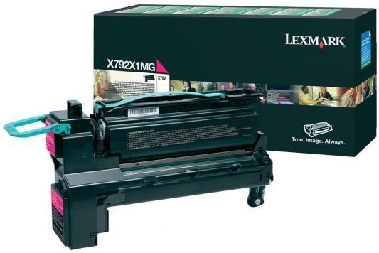 Картридж Lexmark X792X1MG для X792 малиновый картридж lexmark высокой ёмкости