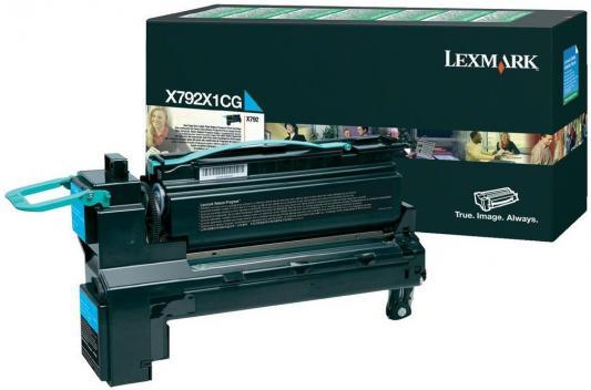 Картридж Lexmark X792X1CG для X792 голубой картридж lexmark x945x2kg
