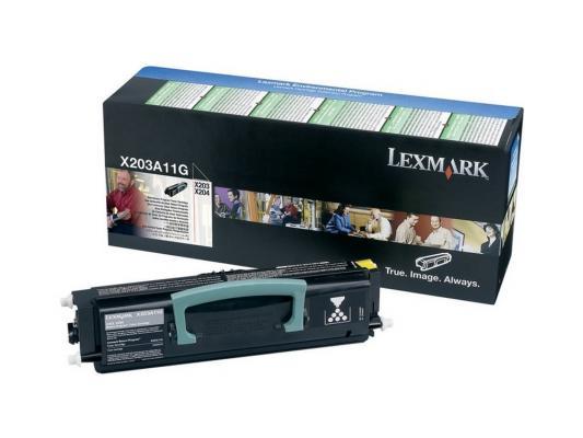 Картридж Lexmark X203A11G для X203n/204n черный картридж lexmark 12a5845 черный