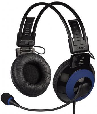 Гарнитура Hama uRage Vibra H-113721 черный-синий мышь проводная hama urage h 62888 чёрный usb