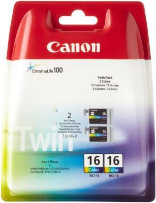 Картридж Canon BCI-16C для SELPHY DS700/810 цветной 9818A002 картридж струйный lomond canon bci 3ey для canon bc 31 bc 33 s600 yellow