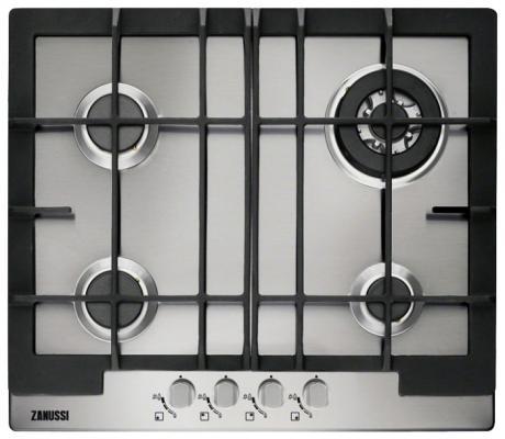 Варочная панель газовая Zanussi ZGG 66424 XA серебристый