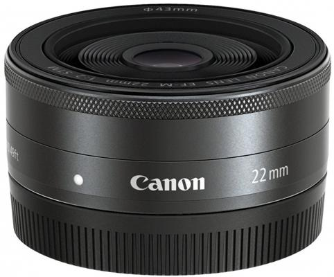 Объектив Canon EF-M 22мм F/2 STM 5985B005 объектив canon ef 24mm f 2 8 is usm черный