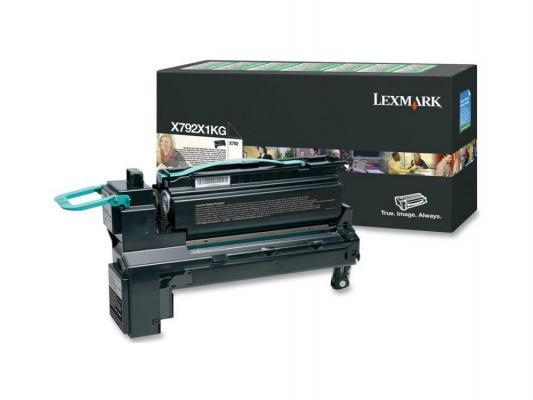 Картридж Lexmark X792X1KG для X792 сверхвысокой ёмкости чёрный compatible toner lexmark c930 c935 printer laser use for lexmark refill toner c940 c945 toner bulk toner powder for lexmark x940