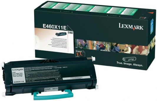 Картридж Lexmark E460X11E для Е460 высокой ёмкости чёрный картридж lexmark высокой емкости