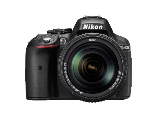 Зеркальная фотокамера Nikon D5300 Kit 18-140 VR 24Mp черный профессиональная цифровая slr камера nikon d3200 18 55mmvr