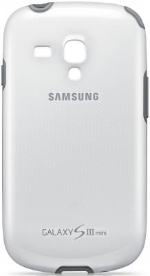 Чехол силиконовый Samsung Protective Cover+ S3 mini/I8190 белый EFC-1M7BWEGSER ikki 3300mah external battery power charger for samsung s3 mini i8190 xcover 2 golden