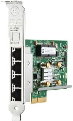 Плата коммуникационная HP Ethernet 1Gb 4-port 331T Adapte 647594-B21 адаптер dell intel ethernet i350 1gb 4p 540 bbhf