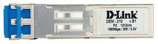 Трансивер сетевой D-Link 100BASE-FX Single-Mode 15KM SFP Transceiver 10 pack DEM-210/10/B1A new new sfp 1550nm100 km gigabit single mode fiber optic sfp 10g zr module