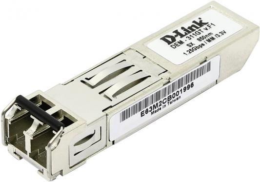 Трансивер сетевой D-Link 1-port mini-GBIC SX Multi-mode Fiber Transceiver up to 550m support 3.3V power unpacked from 10-pack DEM-311GT OEM