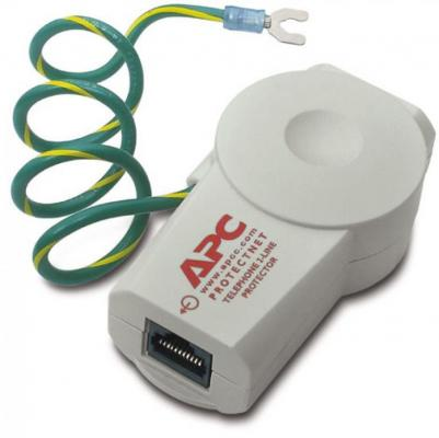 Сетевой фильтр APC PTEL2 Protect Net 2-line белый 1 розетка