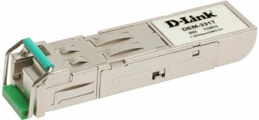 Трансивер сетевой D-Link 1-port mini-GBIC 1000Base-LX SMF WDM SFP Tranceiver up to 40km support 3.3V power LC connector unpacked from