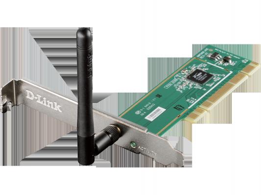 Беспроводной PCI адаптер D-Link DWA-525/A2B 802.11b/g/n 150Mbps WEP WPA WPA2