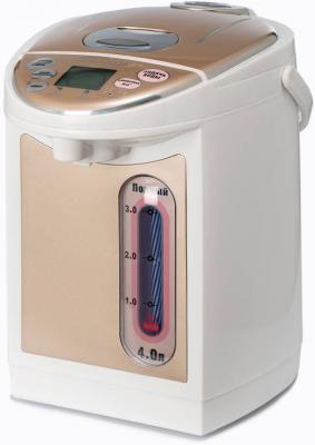 Термопот Brand 4404S 750 Вт белый коричневый 4 л пластик термопот supra tps 3016 730 вт 4 2 л металл серебристый