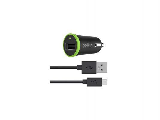 Автомобильное зарядное устройство Belkin 1A черный F8M711BT04-BLK автомобильное зарядное устройство belkin f8m711bt04 blk universal car charger 1a includes micro usb cable