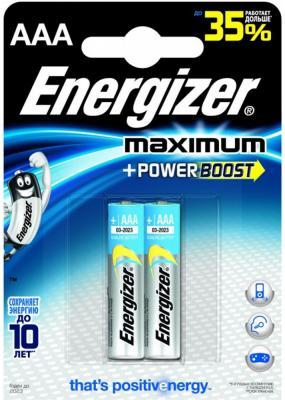 Батарейки LR03/AAA алкалиновые Energizer Maximum 2шт E92 638397