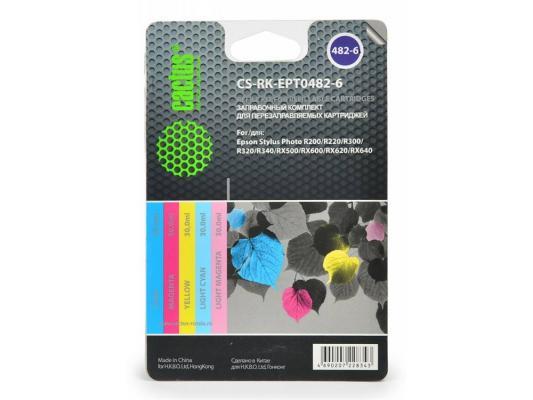 Купить Заправка Cactus CS-RK-EPT0482-6 для Epson Stylus R200 цветной