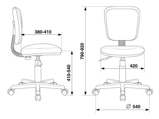 Кресло Buro CH-204NX/26-291 оранжевый цена и фото