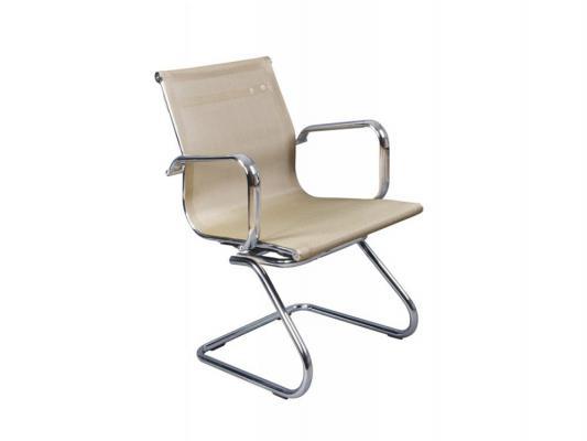 Кресло Buro CH-993-Low-V/gold низкая спинка на полозьях сетка золотистый кресло бюрократ ch 993 low v на полозьях искусственная кожа серый [ch 993 low v grey]