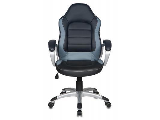 Кресло Buro CH-825S/Black+Gr искусственная кожа черно-серый пластик