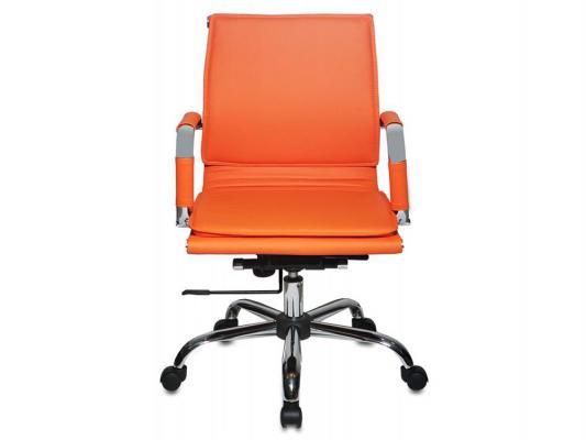Кресло Buro CH-993-Low/orange низкая спинка искусственная кожа оранжевый цены