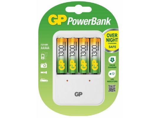 лучшая цена Зарядное устройство GP PB420GS130 1300 mAh AA 4 шт